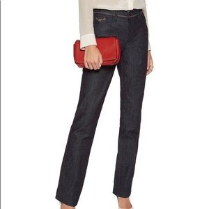 NWT Tory Burch Starflower Straight Leg Jean 32